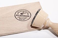 Old Skateboards Stamp #seal #stamp #print
