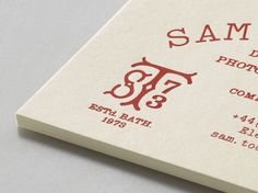 Manual - Sam Tootal #print #embossing #identity #typography