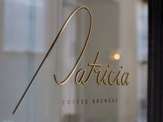 Patricia Coffee Brewers #signage #design #identity #typography