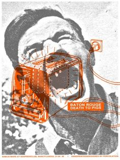 GigPosters.com - Bâton Rouge - Death To Pigs #design #gig poster #screen print
