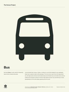 The Human Project Poster (Bus) #inspiration #creative #information #pictogram #collection #design #graphic #human #grid #system #poster #typography
