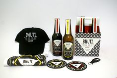 South African Bhuti beer packaging design
