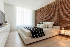 White Loft by Konastantyn Kaschuck #bedroom #interiors