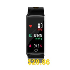 F10 # #OLED #Color #Screen #Bluetooth #Smart #Band #Bracelet #IP68 #Waterproof #Swim #Heart #Rate #monitor #Smartband #for #Android #- #GRAY