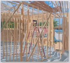 Julian KreimerConstruction #2, 2015oil on linen, 18 x 20 inches