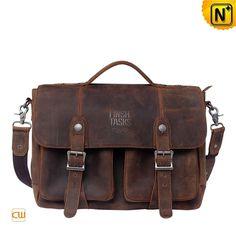 Mens Genuine Leather Messenger Bag Briefcase CW914108 #bag #briefcase #leather