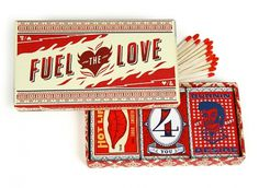 Little & Company Valentine : Lovely Package . Curating the very best packaging design. #vintage #retro #red #hot #flame
