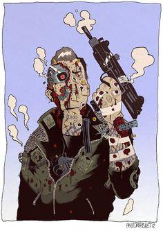 Terminator model t800 - numanhoid #halfdan #pisket #numanhoid
