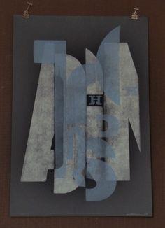 tutto Bene design - broken type poster by hamilton wood type museum