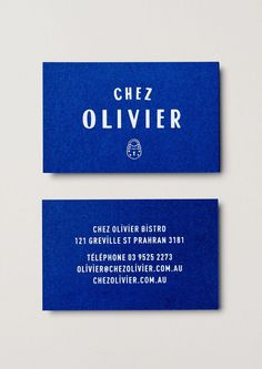 Chez Olivier #business #card #collateral #blue