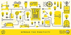 Fuzzo: Positive Energy / on Design Work Life #branding #illustration