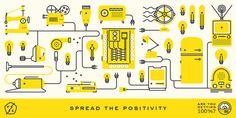 Fuzzo: Positive Energy / on Design Work Life #illustration #branding