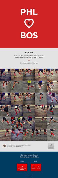PHL <3 BOS - http://phlheartsbos.tumblr.com/ #ux #design #bold #clean #web #social