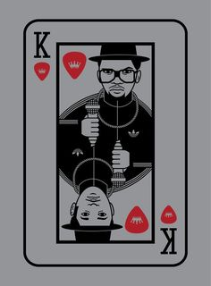 run dmc playing card #adidas #luke #skinner #illustration #hop #hip