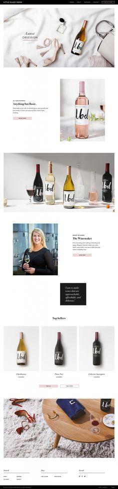 LBD Wines site of the day webdesign beautiful website award The O Group mindsparkle mag minimal wine font script best designblog