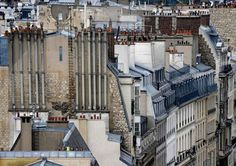 Surreal and Abstract Parisian Rooftops by Michael Wolf