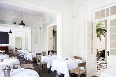 Casa Virginia #interior #cafe #white #restaurant