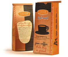 NCGA Cooperative_Grocers Branding #coffee #package #design #branding