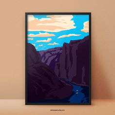 River Valley Fineartprint -In Space? Poster Series by Aleksandar Papez - Buy on Etsy http://etsy.me/1Go6me3 #planet #space #universe #poster