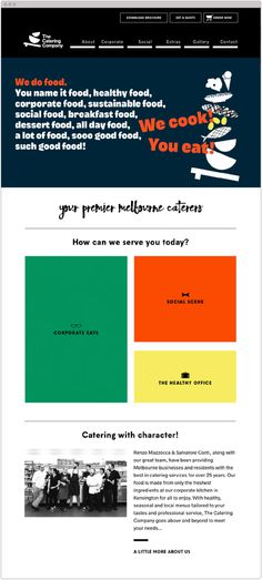 The Catering Company | Website Design | Studio Marche | Melbourne Caterers