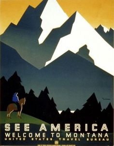 Vintage U.S. Parks Posters -- National Geographic #typography #vintage #poster #national parks