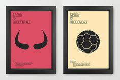 Spain is different #design #typography #modern #colors #graphic #posters #barcelona #madrid #football #canvas #bulls #pain #flamenco #toros