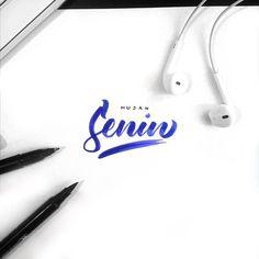 Hujan Senin #typography #hand #lettering