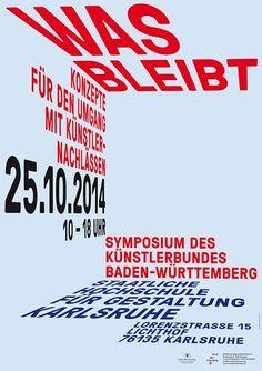 Künstlerbund Baden-Württemberg (1) #fischer #ubert #typography