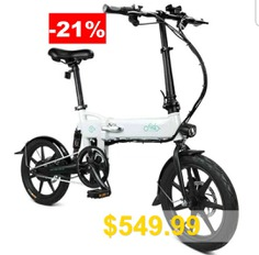 FIIDO #D2 #Smart #Folding #Moped #Electric #Bike #Bicycle #Double #Disc #Brakes #Awesome