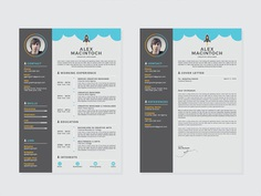 Free Creative Resume Template with Matching Cover Letter