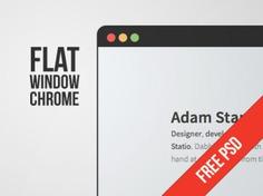 Flat window chrome Free Psd. See more inspiration related to Flat, Window, Psd, Chrome and Horizontal on Freepik.
