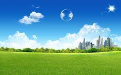 Fantasy Green City #inspiration #photography #landscape