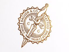 Tattoo Shop Branding: Dagger & Co. by Chad Michael #logo #tattoo
