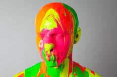 Photographie Akatre #painted #fluoro #akatre #paint #photography #art #face