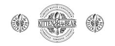 Kitten & the Bear brand identity design #lettering #vintage