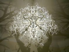 A Chandelier that Projects Tree Shadows #interior #design #art
