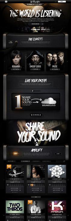 Grammy Amplifier on Behance #music #web #3d