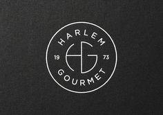 Harlem Gourmet #branding #icon #food #restaurant #logo