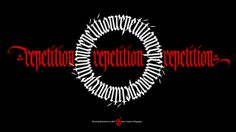 Breaking Repetition | Flickr - Photo Sharing! #calligraphy #type #gothic #steveczajka