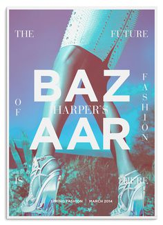 Editorial Design Served' Harper's Bazaar Redesign