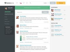 Feed page #social #ui #green