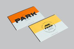 Park Restaurant & Distillery, Glasfurd & Walker, Swiss, Color block, Minimal, Business Card, Identity