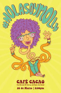 """Flyer Expo #Holasoymolly"" by Molly Yllom #illustration #character #design"