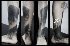 Kenji Alucky Stippling Tattoos 9 #dots #tattoo #modern
