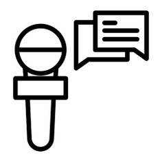 See more icon inspiration related to interview, mic, talk, journalist, interviewer, professions and jobs, hands and gestures, chat bubbles, news reporter, reporter, electronics, report, communications, chat, hand and microphone on Flaticon.