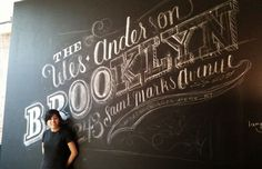 Graphic-ExchanGE - a selection of graphic projects #lettering #chalk #chalkboard #type #typography