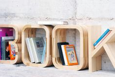 CJWHO ™ (Wooden Letters Decor by WE ArchDesign) #design #books #interiors #wood #furniture #photography #fun #shelf