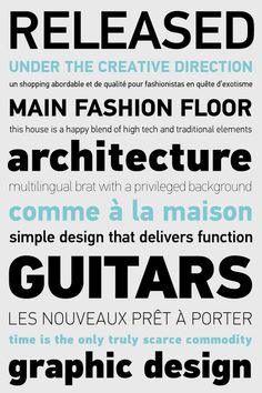 PF Din Text Pro on Behance #fonts #specimen #foundry #parachute #typography