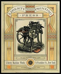 Liberty Machine Works | Sheaff : ephemera #print #vintage
