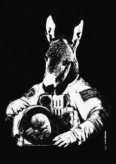 Sacrifice #donkey #astronaut #nasa #conceptual #head #sacrifice #poster #animal #baby